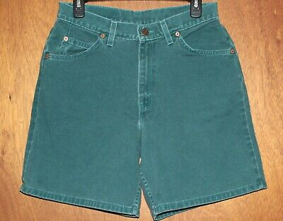 23b74dbed65 Vintage Levis High Waist Mom Jean Shorts Sz 11 Green 950 Relaxed Fit Orange  Tab