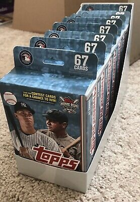 2019 TOPPS Baseball - Case Sleeve of 8 Walgreens Hanger Box - Yellow Parallels