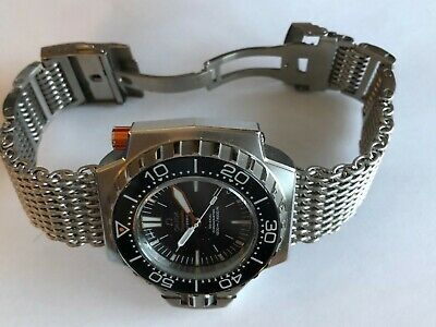 Original SHARK MESH watch bracelet (WITH links) 19mm fits Omega Seamaster