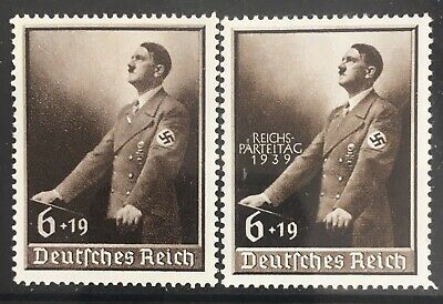 Germany Third Reich 1939 Hitler at Lectern (MLH) & O/P (MNH)
