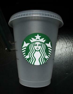 2019 STARBUCKS GRANDE FROSTED  REUSABLE  cup 16 oz  lid Philippines brand new