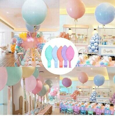 "18/36"" Colorful Large Latex Macaron Balloons Round Sweet Wedding Birthday Party"