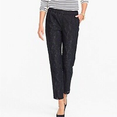 63c81db2 NWT J.CREW EASY Pant In Lace Black Pull On Size 4 - $39.99   PicClick