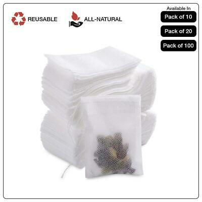 Drawstring Reusable Bags for Herbs Flowers Tea Herbs Loose Leaf Spice 5.5*7cm