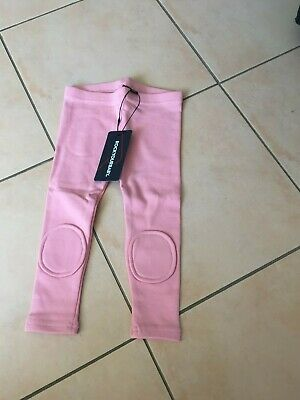 ROCK YOUR BABY pink knee patch tights SZ 18-24 MONTHS BNWT