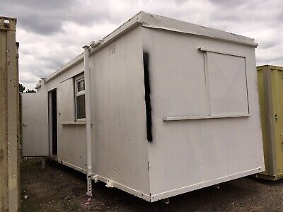 Site Office Cabin Canteen Portable Anti Vandal Steel Building Welfare Unit 20ft