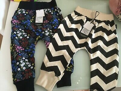 Rock Your Baby Zigzag And Milliore Fiori Pants Sz 2 Bnwt