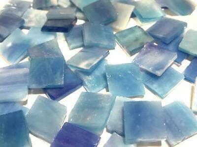 Blue Stained Glass Squares 1.5cm - Mosaic Tiles Supplies Art Craft