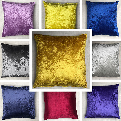 Handmade Crushed Velvet Cushion Cover Sofa Pillow Case Various Sizes Available