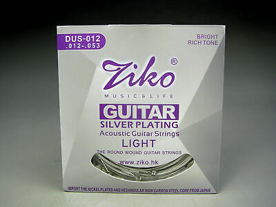 ZIKO DUS- 012 Ziko High Quality Silver Plated Acoustic Guitar Strings