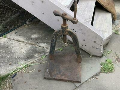 Vintage Antique Cast Iron Book Press Marked Farley Hobart book making