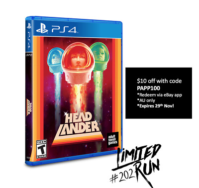 Headlander Playstation 4 Limited Run Games #202 Sealed Only 2500 WW Sold Out!