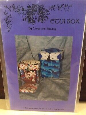 Sewing Pattern For 'Etui Box' By Christine Shively