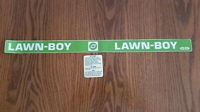Reproduction lawn Boy buttercup model 3002 shroud 3 piece adhesive decal set.