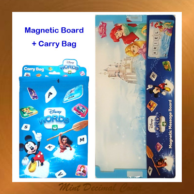 Woolworths Disney Words Tiles: 2 CARRY BAGS + 2 MAGNETIC BOARDS (4 Styles).