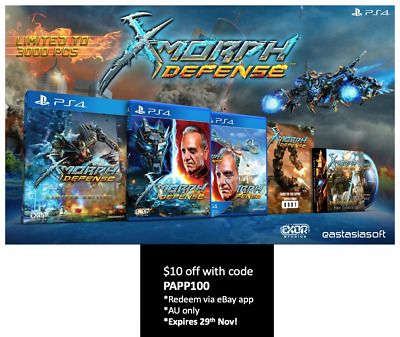 X-Morph Defense Limited Edition PS4 EastAsiaSoft Limited Run Only 3000 WW Sealed