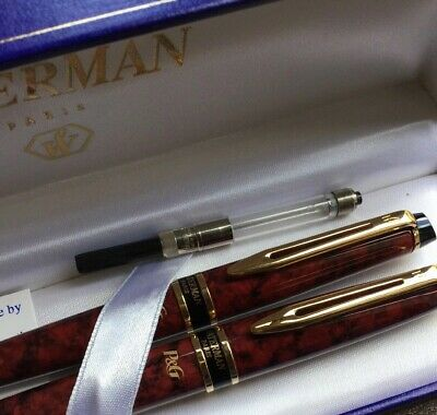 Boxed waterman pen set, fountain ink and ballpoint. Procter & Gamble Corporate