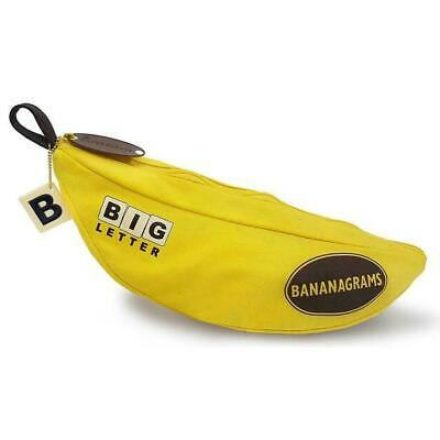 Big Letter Bananagrams Fast Paced Word Strategy Family Fun Board Game BLE001