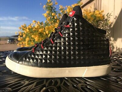 new product 57a89 34ff6 Nike Lebron XII NSW Lifestyle QS Sz 9.5 Black Challenge Red 716417-001