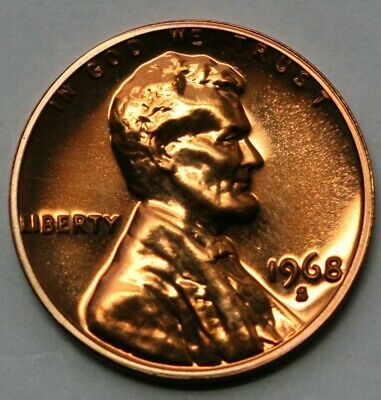 1968 S Lincoln Memorial Cent Gem Proof Penny US Coin