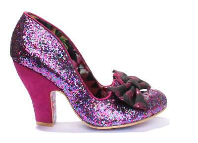 57fb82de962f IRREGULAR CHOICE NICK Of Time Women Glitter Closed Toe Heel Shoes UK ...