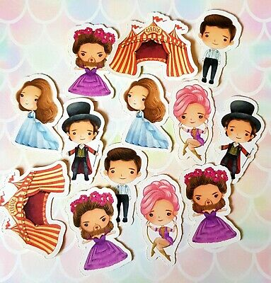 30 Pack The Greatest Showman Film Movie Cute Chibi Kawaii Stickers/Sticker Set