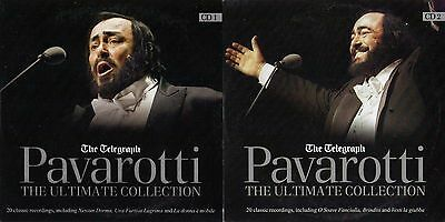 PAVAROTTI - THE ULTIMATE COLLECTION - 2 PROMO CDs: 40 CLASSIC RECORDINGS