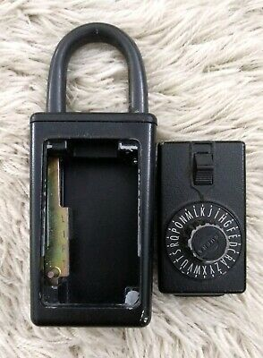 Vintage Supra C Series 3 Dial Combination Key Lock Box - Black - Works Great