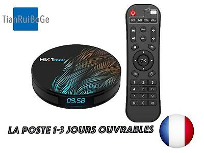 TV BOX HK1MAX Android 9.0 4G 32G/64G 2.4G/5Ghz WIFI 4K HD Quad-Core décodeur