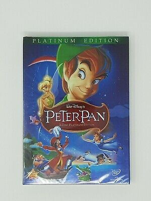 Peter Pan DVD 2-Disc Set, Platinum Edition New Disney with Slipcover Ships Free