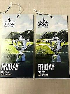 Two (2) Friday Grounds Tickets 05/17/2019 Pga Championship Bethpage Black