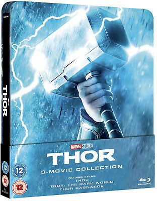 Marvels Thor 1,2 & 3 Trilogy Collection Steelbook Zavvi Uk Sold Out Preorder