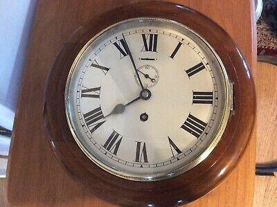 Mahogany Cased Wall Clock, Serviced, Working Order.