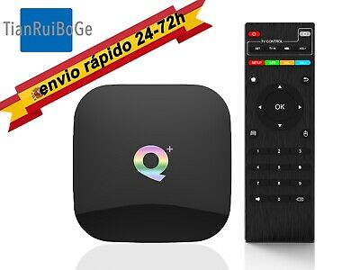 Q Plus Android 9.0 H6 Smart TV BOX 6K Quad Core USB 3.0 2.4G WIFI 4+32/64G