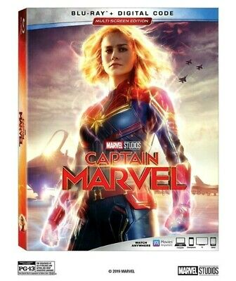 Captain Marvel [Blu-ray+Digital Code] [2019]  NEW* PRE-SALE SHIPS ON 06/11/19