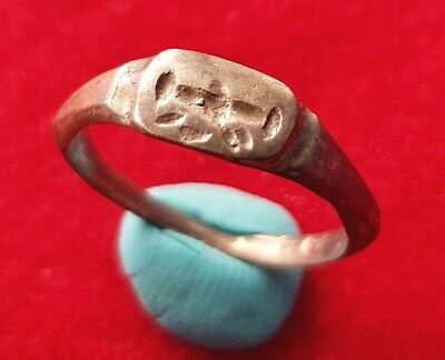 Beautiful ANCIENT ROMAN SILVER ENGRAVED SIGNET RING - MEDICAL TOOL ENGRAVED ?