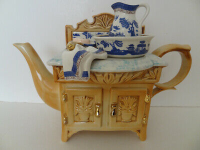 Royal Doulton Real Old Willow 1998 Washstand Teapot Cardew Design. 1998