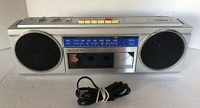 Vintage SONY CFS-250 Fm/Am Radio Cassette Stereo Tape Recorder Tested & Working