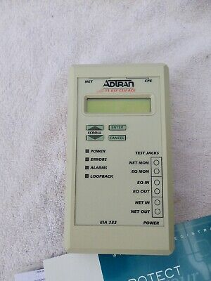 AdTran T1 ESF CSU ACE includes AC power supply Warranty FEDEX Overnite available