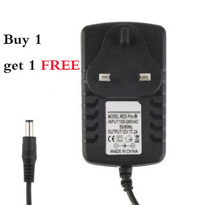 2pcs UK Plug DC 5/9/12V 2A AC Power Supply Adapter Converter Wall Charger 230V