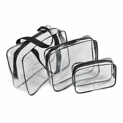 3pcs PVC Cosmetic Bags for Toiletries Makeup Wash Bag Travel Clear Bag