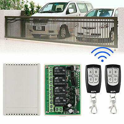 12V 4CH CHANNEL Wireless Remote Control Relay Switch