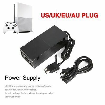 AC Adapter Mains Power Supply Brick for Microsoft Xbox One + Power Cord LOT BU