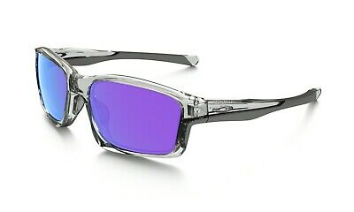NEW Genuine OAKLEY CHAINLINK Polished Clear Violet Iridium Sunglasses OO 9247-06