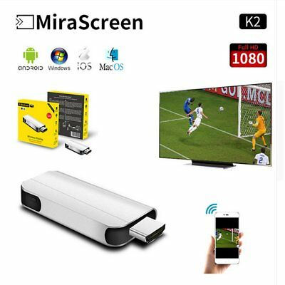 MiraScreen K2 TV Stick Wireless 1080P HD WiFi Dongle Miracast Airplay DLNA LOT S