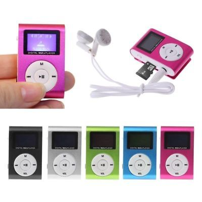 Portable LCD Screen Metal Mini Clip MP3 Player Support Micro TF/SD + Earphone XK