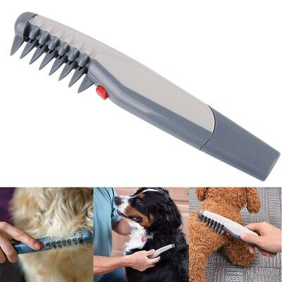 Electric Dog Cat Self Grooming Comb Groomer Brush Pet Haar Trimmer Tangles Tool