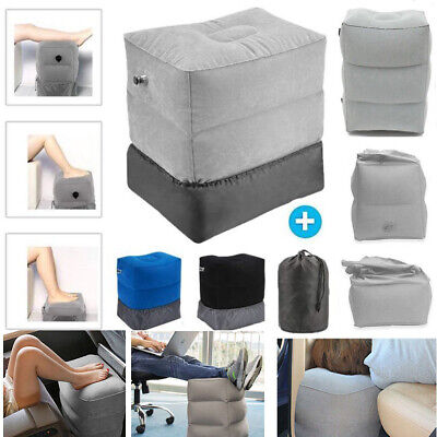 Inflatable Portable Foot Seat Pad Footrest Pillow Kid Bed Plane Train Car Travel