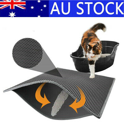 Cat Litter Tray Mat Double Layer Honeycomb Trap House Box Toilet Pad Urine Proof