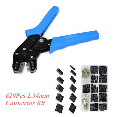 """2.54mm 0.1"""" Wire Jumper Housing Pin Connector & SN01BM Terminal Crimping Tools"""